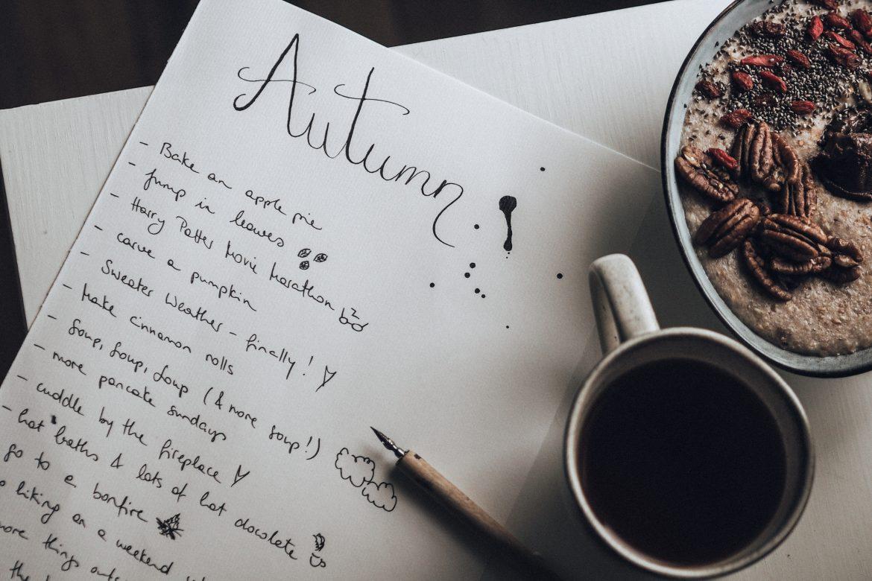 Autumn Love List