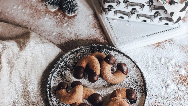 Vegane Schokokipferl - ein einfaches Weihnachtsrezept